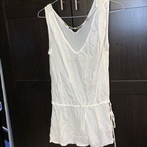 White tank cotton cover up
